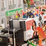Klaus Wowereit auf dem SPD-Truck